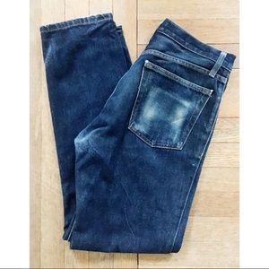 American Apparel Dark Wash Wallet Fade Jeans